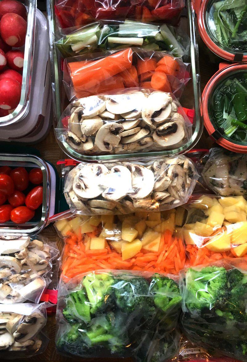 Geschnittenes Gemüse, portionsweise abgepackt