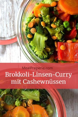Brokkoli-Linsen-Curry mit Cashewnüssen mealpreperia.com