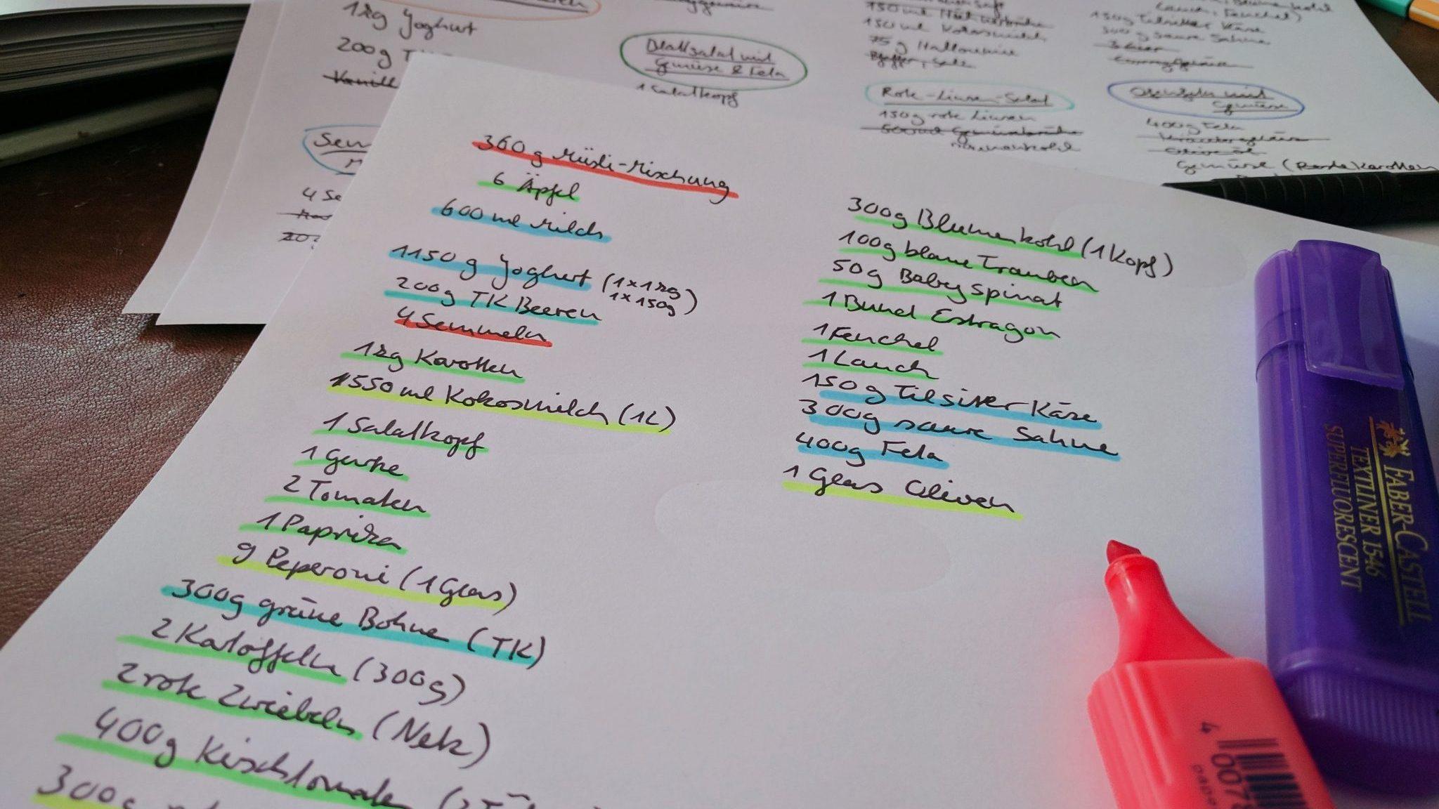 Mealprep Wochenplan einfach anlegen mealpreperia.com