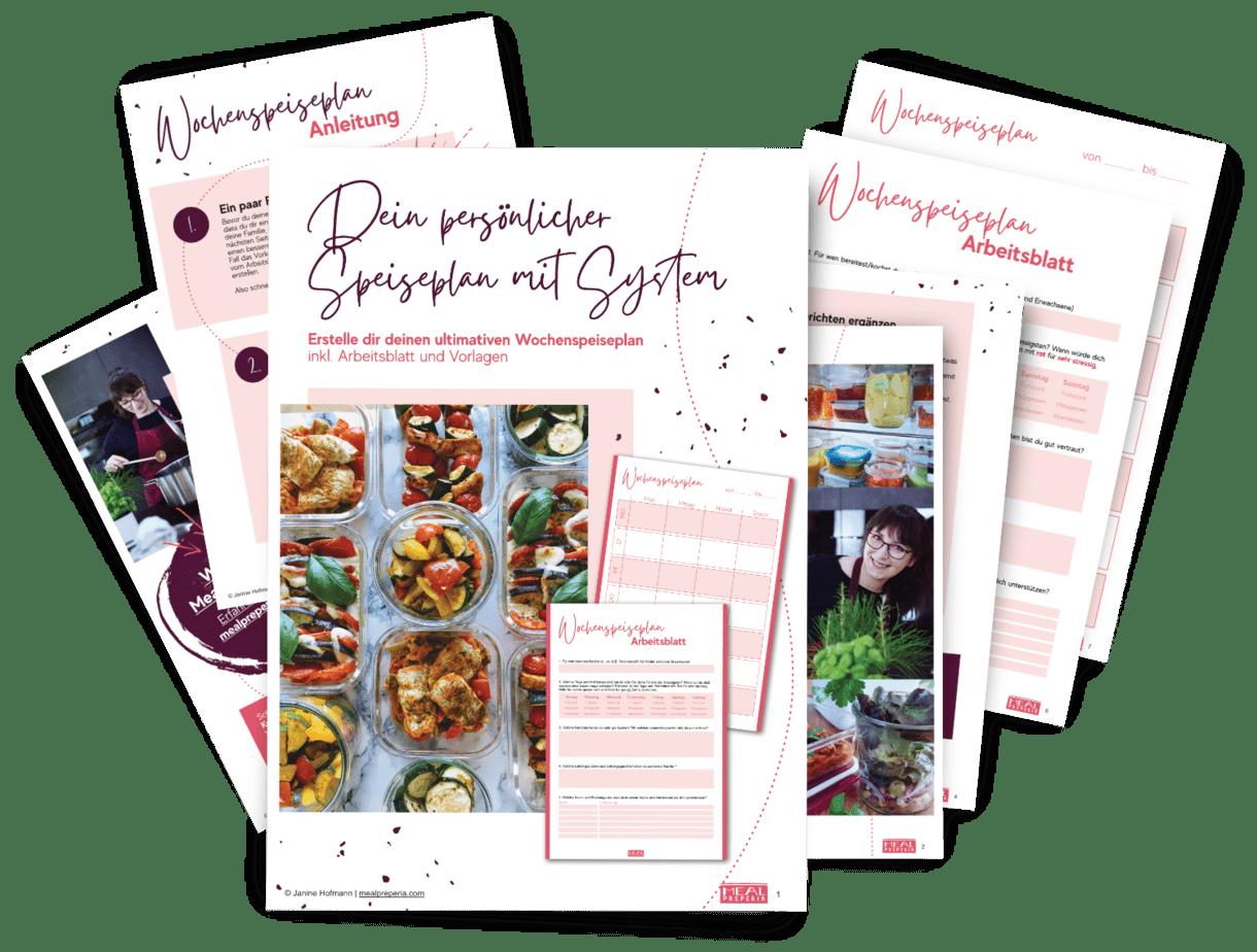Vorschau der Speiseplan Anleitung