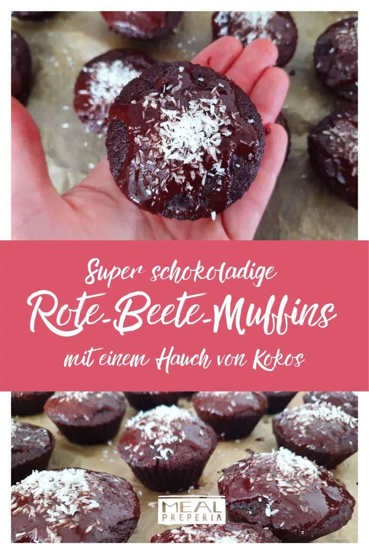 Super schokoladige Rote-Beete-Muffins mit einem Hauch von Kokos_Pin